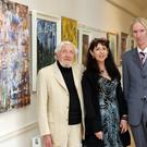 Charles Eden, Katharina Shine and Tony Strickland who opened the exhibition