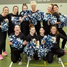 The mums who shook their pom poms for Daisy Days (L-R) back: Barbara White, Lucinda Watters, Katelyn Lally, Paula Connolly, Nessa Carroll, Paula Lally. front: Rebekah Fox, Jessie Martin, Claire Martin, Mags Lally