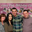 Chris, Claire, Jack and David O'Neill at Claire's 21st birthday party at home in Ashfield Court