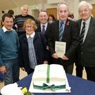 Bobby Ryan, Myrtle Gilbert, John Hannigan, MD of Sunbeam House Services, author Professor Ger Fealy and John Giles