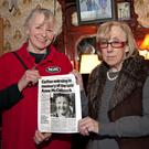 Yvonne Smalley from Naas with Maureen Masterson, sister of the late Anne McCullouch