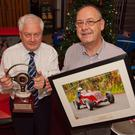 Pictured is Edmond Cassidy who started up the HRCA in 1984 who received the HRCA Lifetime Achievement Award at an event held in the Glen of the Downs by Mick O'Shea