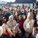 Greystones says goodbye to Mrs Mooney on Christmas Eve: the crowd of well wishers fill up the front of the shop and spill across the road