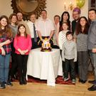 Mark Carrick celebrating his 40th birthday at the Royal Hotel with his dad Willie, mum Molly and his brothers and sisters and nieces and nephews