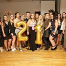 Katie Walsh enjoying her 21st birthday celebrations with her friends in the Royal Hotel on Saturday night