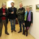 Peter Walsh, Hilliard Hayden and Liz Clifford with curator Conall McCabe (centre)