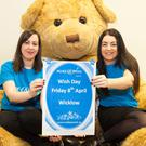 Irene Timmins and Emma Horgan at the Wicklow launch of Make-A-Wish Ireland's Wish Day, which takes place on Friday, April 8