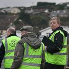 Cllr Pat Casey on the campaign trail in Mount Carmel, Wicklow town