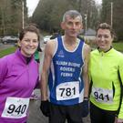 Sheena Doherty, Newcastle, Eugene Doherty, Arklow and Debbie Harrison, Bray at the Wicklow hospice 10km and half marathon in Avondale