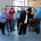 Shadowbox Theatre Company in Workshops at the Mermaid Arts Centre: (L-R) Mandy Finlay, Maeve Malone, Ann Edwards, Jamie Matthews, Matthew Davies, Dermot Asple