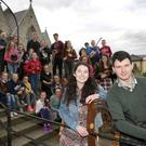Feis Ceoil winner Rachel Duffy and Composer Tom Doyle and musicians from Bray Comhaltas who will be premiering 'Rithim na Réabhlóide' on Thursday, March 24 at the Well on the Main Street in Bray at 7.30pm