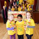 Ally Thornton, Kavin Venkatesan and Amelia Ward from the Greenwood Theatre Company, DoMiSo and the Greystones School of Music and Drama rehearsing with their cast mates for the Jungle Book at the Newcastle Parish Centre on April 1 and 2 at 2.30