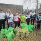 Some of the volunteers from RehabCare who collected rubbish