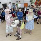 Bray Musical Society in rehearsal for 9-5 which will be presented at the Mermaid Arts Centre from April 20-23