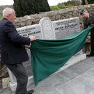 The Kilmacanogue 1916 Garden is unveiled: Tony Lawlor and Lft Lar O'Connell unveil the monument