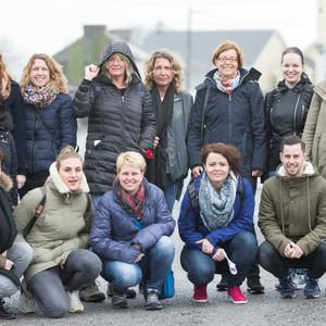Dutch travel agents visiting Ireland including (front, l-r) Meta Buchner, Sofie Van De Kerchf, Miranda Kogman, Marye Peters and Martyn Van Lienen; and (back, l-r) Femie Hazewintel, Mayola Gitmans, Laura Geux, Tessa Harmsen, Josephine Bibo, Jacqueline Van Howen, Renee Hawermans and Cindy Van de Wiel, with Linda Veeke and Diny Kouwigzen, both de Jong Intra Vakanties.