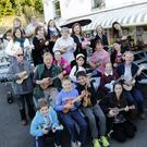 The Harbour Bar Ukuleles come together to make beautiful music on a Tuesday Evening