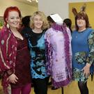 Shelly Jeffares, Sharon Wells, Anne Jeffares and Róisín Dempsey with their joint felting project at the Bray Crafters Exhibition 'The Threads that Bind Us' at Signal Arts Centre