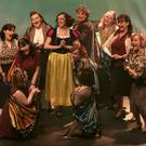 Violet Newstead (Joanne Keeling) and her magical helpers singing 'Potion Notion'