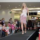 Former Miss Ireland Sarah Morrissey on the catwalk