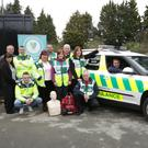 (Back) Nick Alderton, Helen Alderton, Paul Keogh, Margaret Duggan, Martin Hayes, Sharon Carey, Brendan Smith, Annmarie Hayes, (front) Keith O'Brien, John Hopkins and Dr David Menses, Wicklow Rapid Response Doctor, at the launch of Kilmacanogue Community First Responders
