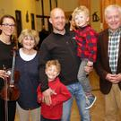 Violinist Ola Farrar with Doris, Ollie, Jonathan, Jan and Robert Farrar at the Greystones Orchestra performance Magic of Mozart at St Fergal's Church