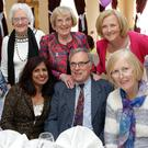 Back: Anne Kiely, Doreen Ivory, Annette Hynes, Eleanor Murphy. Front: June and Barry O'Loughlin, Margaret Mullen at the Bray Old Folks Association 50th Anniversary Dinner at the Esplenade Hotel
