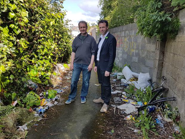 Council urged to clean up dumping in Bray laneway - Independent ie