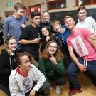 (Back) Anthony Wheeler, Kevin Moran, Alex Smartland, Jodie O'Neill, Nathan Flanagan, Oscar Dyos, Ben Rowson, (front) Eve Brady, David Jackson and Niamh Leadbetter at the launch party for the Youngbray.ie website at Holy Redeemer Youth Centre