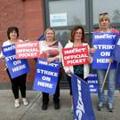 The IMPACT Strike at Childminding Ireland in Kilcoole on Tuesday