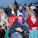 Joan Lynch Josie Whlean, Siobhan Hanley, Ger Gilroy, Emma Tagliarino, Eithne Dalby, Elaine Lloyd and Darren Scott at the Grease screening at the Ladies Cove with Theatre Lane Restaurant