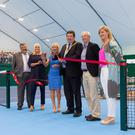 Dignitaries at the official opening of the new indoor facilities for Shankill Tennis Club