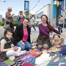 Fern, Davida and Faith Bradshaw with Cllr Nicola Lawless at the picnic in support of Tommy Donnelly