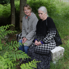 Rosaleen Durkin and Geraldine Lynch at Lady's Well