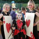 Greystones Summer Project Fancy Dress Night at Gael Scoil na gCloch Liath: Aoife and Hannah Lamb and Ava McKechnie