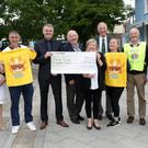 Darkness into Light Bray present a cheque for €81,000 to Pieta House: (L-R) Tresi O'Brien BMD, Mary O'Brien Bray Emmets, Kieran O'Brien, David Forde Bray Muncipal District Administrator, Danny Bohan, Tracey O'Brien, Jerry Teehan Bray Lions, Rebecca McInerney, Ray McDonagh Bray Lions, Claire Timmons