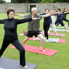 David Medcalf tries Yoga in the Walled Garden at Powerscourt