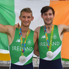 Gary and Paul O'Donovan with their medals