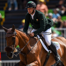 Mark Kyle on Jemilla in action during the eventing team jumping final