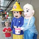 Feidhlim Carey opens up his treasure chest to give Fireman Sam and Elsa his contribution