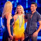 Laura Whitmore and Giovanni Pernice speak to host Tess Daly on Strictly Come Dancing