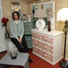 Kristina Oksiene in the new shop at the recycling centre