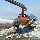 Just one of the many incidents of dumping in the beautiful Wicklow uplands that the PURE Project has cleaned up in the last decade