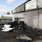 Fire damage at Greystones council depot on Mill Road
