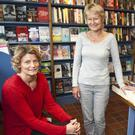 Joanna Hamilton (left), chairperson of retail committee, with Hilary Hamilton at Bridge Street Books