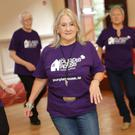 Georgina Black gets into the groove at the Purple House Line Dancing Marathon at the Royal Hotel