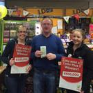 Carmel Coulahan, PJ O'Reilly and Amanda Dunne from O'Reilly stores in Baltinglass