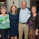 Catherine Byrne, Anna Byrne, Mick O'Brien, Trish Higgins and Pauline Duffy at the St David's reunion