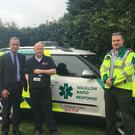 Gerard Davis, Canada Life Reinsurance, sponsors of the AED, Advanced Paramedic Andy O'Toole and Dr David Menzies