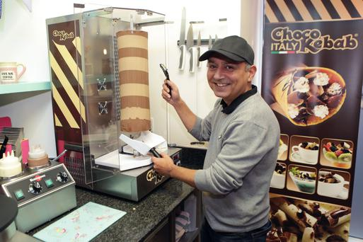 Declan Woods at Sprinkles, on the junction of Bray's Main Street and Quinsboro Rd Photo Credit: Bray People.